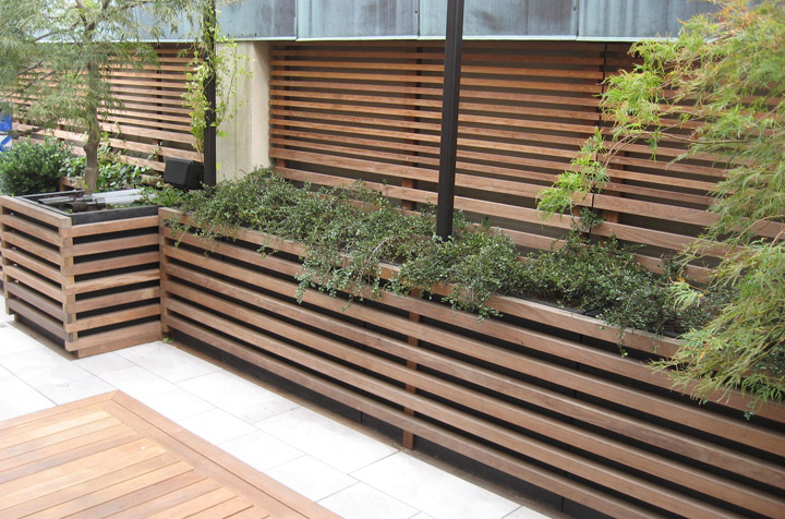 Ipe recessed deck and fence